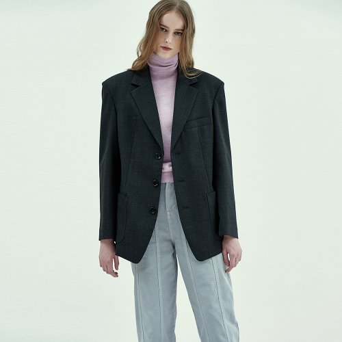 Margaret Single Jacket in Charcoal