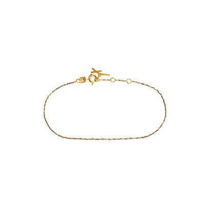 루메 옐로블랙 브래슬릿17.7cm, Lume Yellow&Black Bracelet 17.7cm, 14k yellow gold, black gold