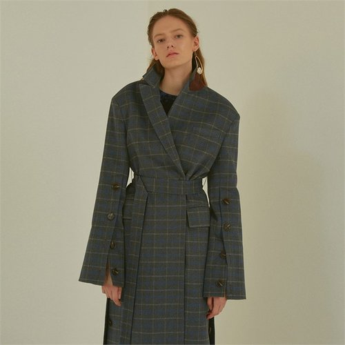 [MUSEE]CamilleWoolSleevepointedcoat_Gray check (1941010)