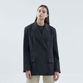 20FW over snap jacket - black
