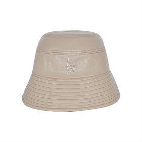 [써틴먼스] STITCH LEATHER BUCKET HAT (BEIGE) (5178611)