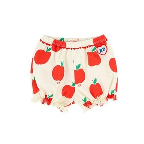All over apple baby pique lace shorts