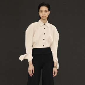 Rib Knitted Shirt_Ivory