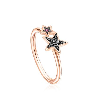 [최초출시가 105,000원]Teddy Bear Stars ring in rose gold vermeil spinel and ruby/반지/018075510/52(12호)