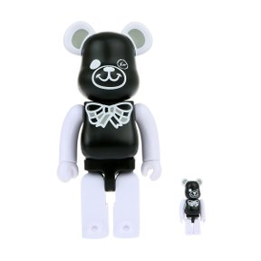 400%+100% BEARBRICK FREEMASONRY X FRAGMENTDESIGN BLACK