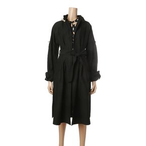 MAGLOGANPRIVE_NECK PEARL BUTTON TRENCH COAT