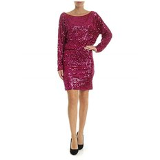 [패로슈] Jersey dress with fuchsia sequins in red (RUNWAY D720891 042)