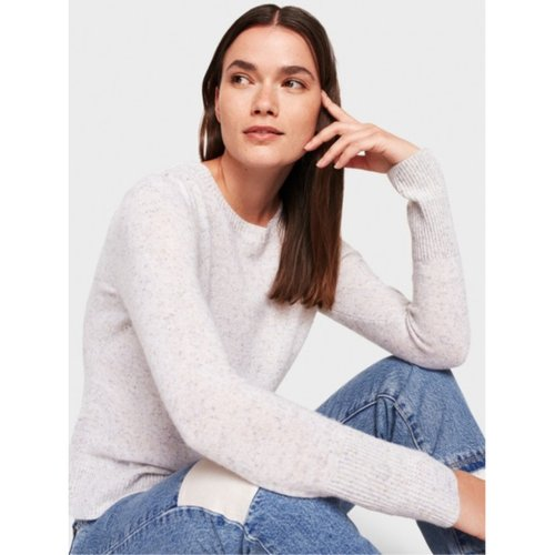 W+W Cashmere Puff Shoulder Tweed Crew