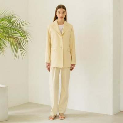 Slim Tailored Jacket - Light Beige