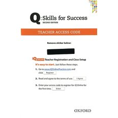 Skills for Success Q: Teacher iQ Online Access Card (Cards/2nd Ed.)