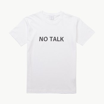 NO TALK TEE WHITE