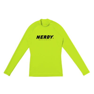 Women`s Basic Logo Rashguard Lime