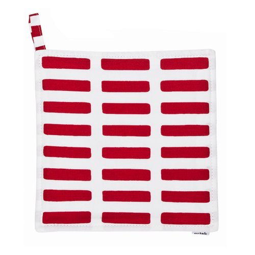 SIENA POT HOLDER White/Red