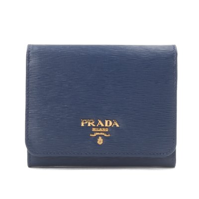 [PRADA] 3단 반지갑 1MH176 BLUETTE VITELLO MOVE