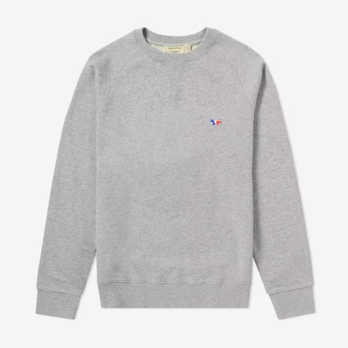 [PRE-ORDER] 19FW SWEATSHIRT TRICOLOR FOX PATCH GREY MEN AM00302KM0002