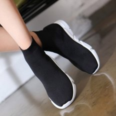 kami et muse Knit fabric socks sneakers_KM18w085