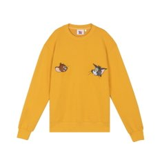 [FW19 T&J] Velour Applique Sweatshirts(Mustard)