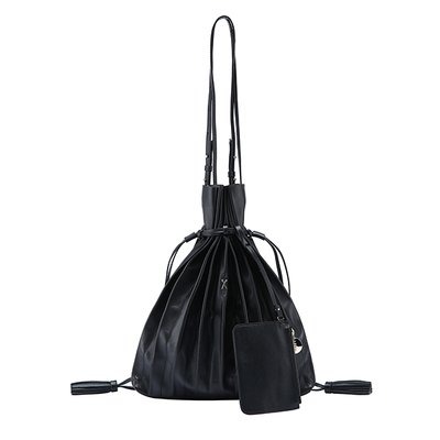 [조셉앤스테이시] Lucky Pleats Shopper Rich Black2