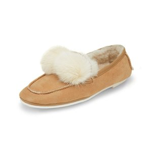 [파주점] Pompom pearl flat(brown) DG1DX18538BRN