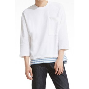 [17A/W]남성용 [PLAC]Sportive Coloration Woven Top_WH (PWOE3RLLC3M0C2)