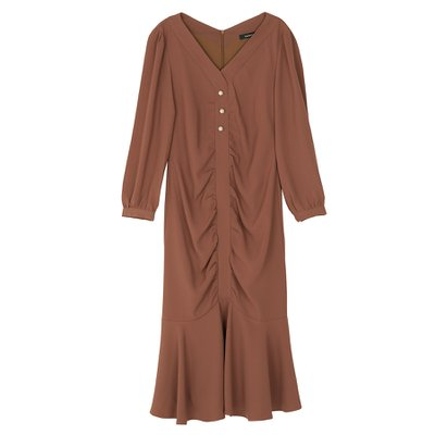 Classic Pearl Dress_Chocolate
