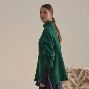 ★SSG특별혜택가★[뮤제]Rothko Cashmere Blend Oversized Logo Knit_Forest Green