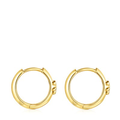 [최초출시가 83,000원]Silver Vermeil TOUS Basics bear Hoop earrings/귀걸이/011183530