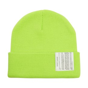RESPECT LABEL BEANIE - LIME (비니)