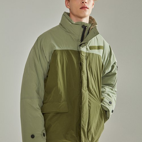 [NOHANT] OVERSIZED NAME LABEL PADDING KHAKI