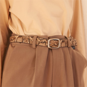 [써틴먼스] PYTHON LEATHER BELT (BEIGE) (2848294)