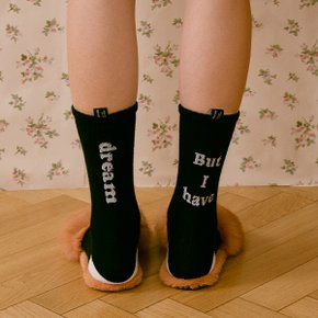 (SC-20501) BUT I HAVE DREAM SOCKS BLACK