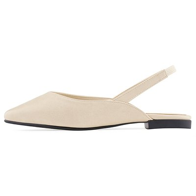 슬링백 MS9073 Slim square sling back 베이지