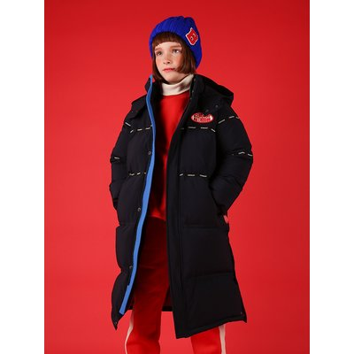 [40% SALE] Icebiscuit logo tape puffy long down coat