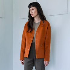 [WOMEN] ALPACA V-NECK JACKET(ORANGE)