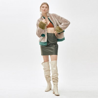 ANTHRO SHINEmixed color short  coat