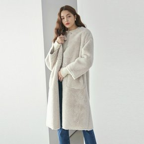 DUPLEX FUR MUSTANG LONG COAT_CREAM (3698209)
