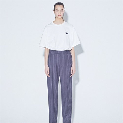 [MUSEE] High-rise stripe pants (2172487)