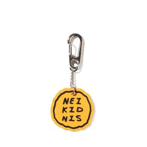CAKE LOGO RUBBER KEY RING - YELLOW