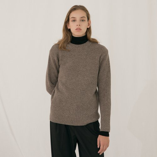 Wool Cashmere Pullover - Brown