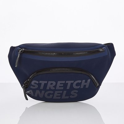 스트레치엔젤스[S.P.U] Round pocket fanny bag (Navy)