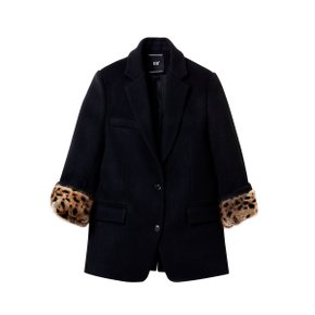 Leopard Detail Wool Jacket [RWJ001CBK]