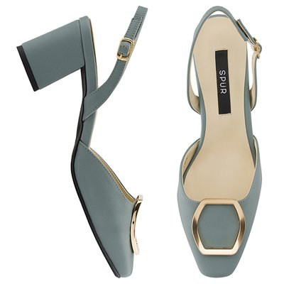 슬링백 MS8015 Bronze hexagon sling back 스카이