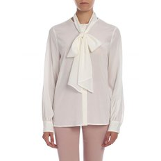[발란타인] Stretch silk shirt in white (PLH101 UCS24 10155)