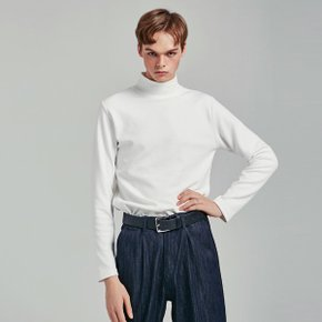 SLIM HALF TURTLENECK T_WHITE (1814820)