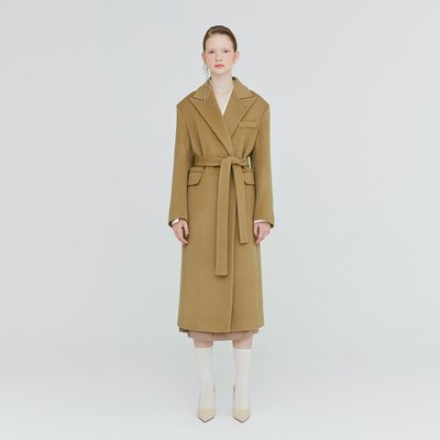[가브리엘리] 19FW PEAK COLLAR DOUBLE-FACED WOOL COAT - CAMEL