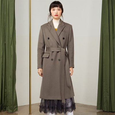 [조셉안] KHAKI GRAY DOUBLE TAILORED LACE COAT (1994523)