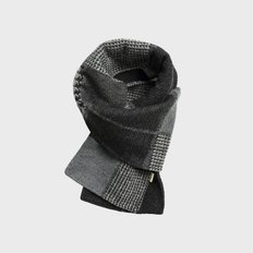 L19-5 Check Wool Muffler Black