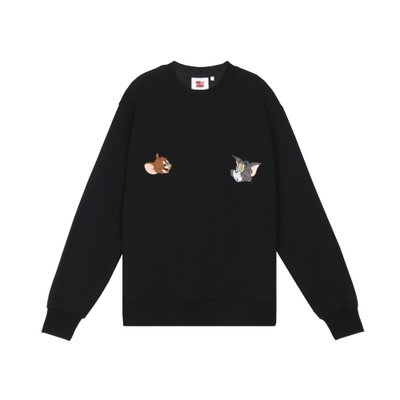 [FW19 T&J] Velour Applique Sweatshirts(Black)