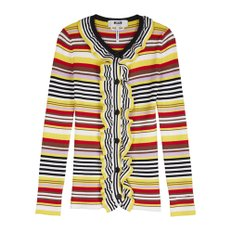 공식[MSGM] W_Striped Viscose Knit Cardigan(YELLOW)
