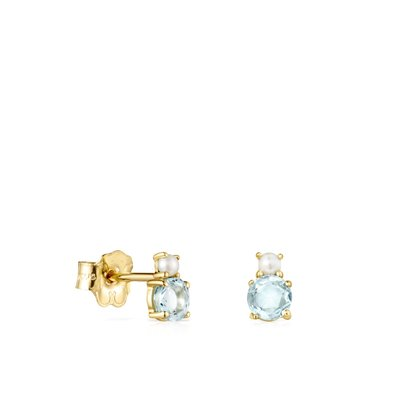 [최초출시가 279,000원]Mini Ivette Earrings in Gold with Topaz and Pearl/귀걸이/912193050